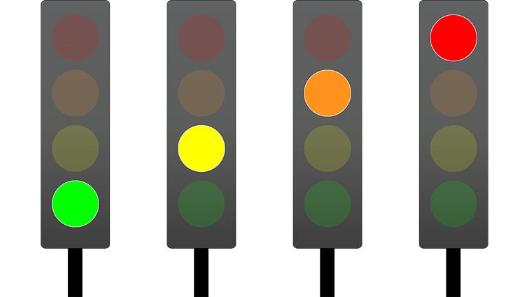 groen,geel,oranje,rood